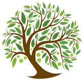 Tree of Life. A tree with leaves and fruit grows with life and energy