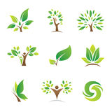 Tree of Life logos and icons Royalty Free Stock Photos