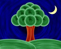 Tree Of Life Night Painting Stock Image
