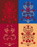 The tree of life Pomegranate in different colors stock image