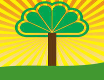 Tree of life. A retro depiction of the . Add your own words of inspiration to branches the su rays around it, the trunk, or grass beneath it. Useful for vector illustration
