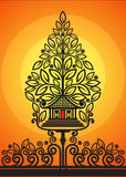Tree of Life shadow puppets. Modification Tree of life shadow puppets vector illustration Stock Image