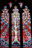 Tree of Life stained glass window royalty free stock photo