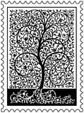 Tree of Life Stamp vector illustration