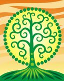 Tree of life. Symbol picture. Tree of life. Symbol art picture. Life and growth. Healthy lifestyle. Vector drawing. Summer, sun, nature Royalty Free Stock Image