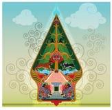Gunungan or Tree of life symbol on puppets show Stock Photos