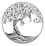 Tree of life. On white background Royalty Free Stock Image