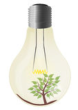 Tree lightbulb Stock Photography