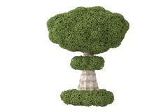 Tree like a bomb.3D illustration. Tree like a bomb. 3D illustration Royalty Free Stock Images