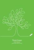 Tree line design Stock Image