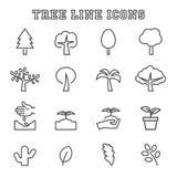 Tree line icons Royalty Free Stock Photo
