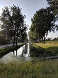 Portrait view of the canals at Hoofdorp in the Netherlands. Stock Photography