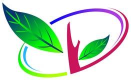 Tree logo. Isolated illustrated tree emblem design Royalty Free Stock Photo