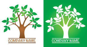 Tree Logo. A tree with leaves logo icon illustration Royalty Free Stock Images