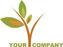 Tree logo. Logo and icon of tree / plant Stock Image