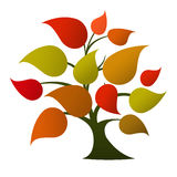 Tree logo (autumn colors) Stock Photo