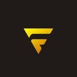 Letter F logo design Royalty Free Stock Photos