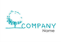 Tree  logo design template Royalty Free Stock Photography