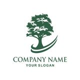 Tree logo design. Tree  Vector illustration logo design Royalty Free Stock Photo