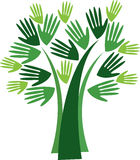 And tree logo Royalty Free Stock Images