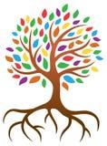 Tree Logo. A tree with leaves logo icon illustration royalty free illustration