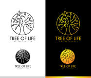Tree Logo Monogram royalty free illustration
