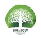 Tree logo. Nature, ecology icon. Environment symbol  illustration Stock Images