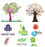 Tree Logo Set 01 Stock Photo