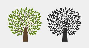 Tree logo or symbol. Nature, garden, ecology, environment icon. Vector illustration. Tree logo or symbol. Nature, garden, ecology environment icon Vector Royalty Free Stock Photo