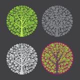 Tree logo template. Royalty Free Stock Photography