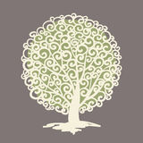 Tree logo template. Stock Images