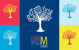 Tree logo template. Growing business concept Royalty Free Stock Photo