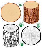 Tree logs, vector  Stock Images