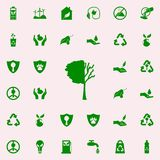 Tree lost leaves green icon. greenpeace icons universal set for web and mobile. On colored background royalty free illustration