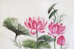 Tree lotuses Stock Photography