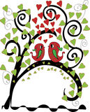 Tree of love. Love birds on the tree of love Stock Photography