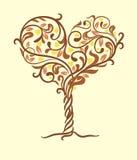 Tree of love. Vector illustration Stock Photos