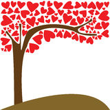 Tree of love. In a beautiful day Royalty Free Stock Image
