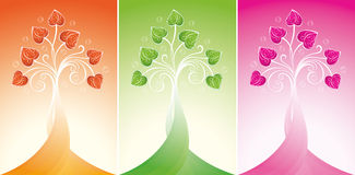 Tree of love. Decorative tree of love with hearts Stock Photography