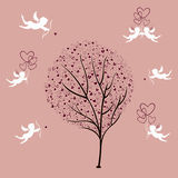 Tree of Love and Angels Stock Photo