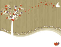 Tree of Love - greeting card Royalty Free Stock Photography