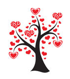 Love tree on white background. Abstract illustrati Royalty Free Stock Image