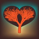 Tree of love with hearts. EPS 8 Royalty Free Stock Images