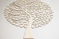 Tree of love from the hearts Stock Images