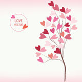 Tree of love with hearts style Stock Photos