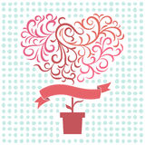 Tree love. Illustration of tree of love Royalty Free Stock Images