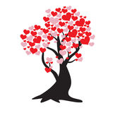 Tree of love. Rees of Love leaves made of a special day and a special heart for Valentine`s Royalty Free Stock Images