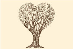 Tree Love Sketch. Royalty Free Stock Photography