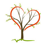 Tree love symbol Royalty Free Stock Images