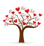 Tree of love valentines hearts logo Royalty Free Stock Image